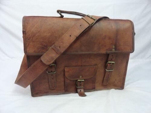 Tan Leather Bag Laptop Business Shoulder Briefcase Messenger Bag Satchel Office
