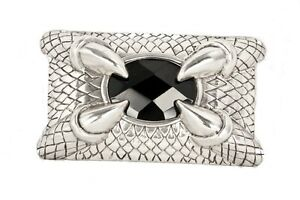 The-Claw-Heavy-Metal-Claw-Belt-Buckle-Black-Stone-Silver-Plated