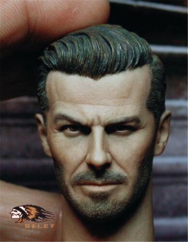 """Échelle 1//6 David Beckham CUSTOM HEAD SCULPT FOR 12/"""" Hot Toys Phicen figure masculine"""