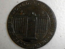 London Vintage Salter's 47 Cheapest Hat Warehouse in the world HALF PENNY TOKEN