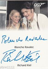 JAMES BOND MISSION LOGS RICHARD KIEL JAWS BLANCHE RAVALEC DUAL AUTOGRAPH LIMITED