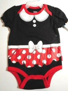 8e4c9ad1a5d4 Details about Minnie Mouse Outfit Baby Creepers Bodysuits 1-Piece Girls  clothes 0 3-3 6 mos
