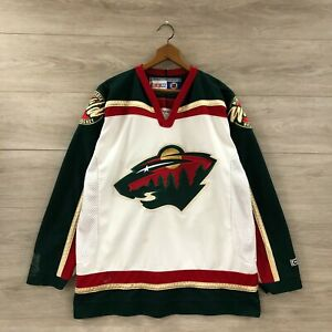 Vintage-Minnesota-Wild-NHL-CCM-Maska-Air-Knit-Hockey-Jersey-Size-Large