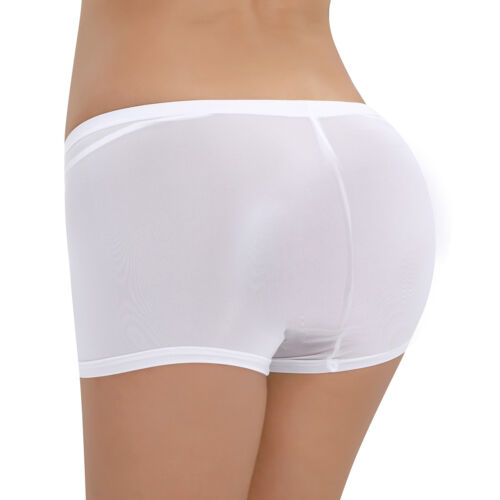 Sissy Women Sheer Micro Boyshort See-through Lingerie Boy Leg Briefs Underwear