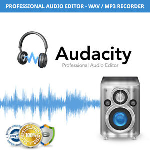 Details about Audacity Pro Audio Editor and Recorder - WINDOWS PC AND MAC -  WAV / MP3