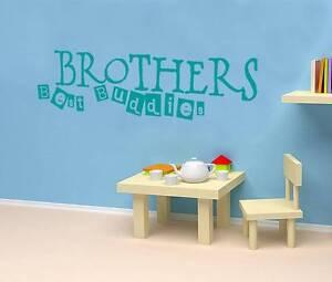 BROTHERS BEST BUDDIES Quote Decal WALL STICKER Art Decor Kids Nursery SQ1031