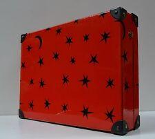 Sternchen Kinder Koffer Stern 36,5 x 27 Reise Case travel holiday red black 80er