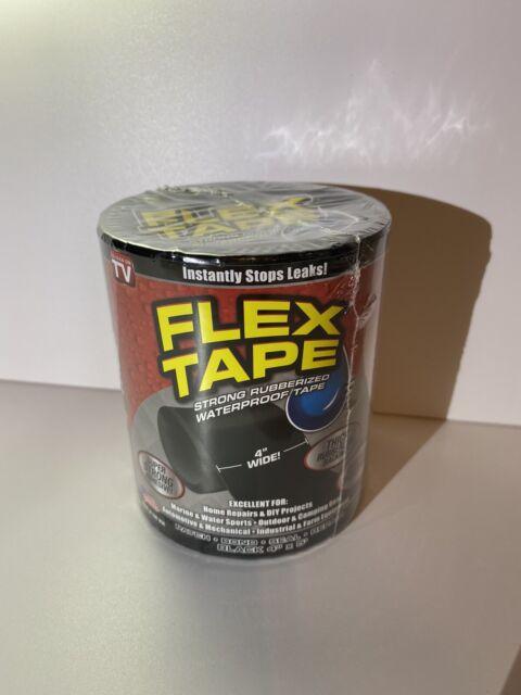 "Flex Tape Strong Rubberized Waterproof Tape, 4"" x 5' - Black  Free SHIPPING! (E)"