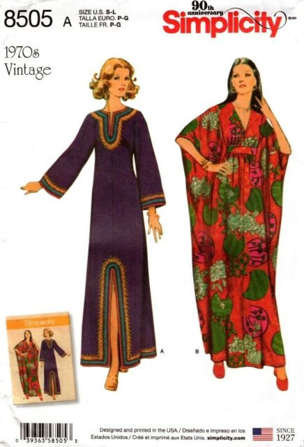Simplicity Sewing Pattern 8505 Misses' Vintage Caftans Dress Size S-L NEW