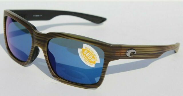 8e2338b2ee COSTA DEL MAR Playa POLARIZED Sunglasses Matte Verde Teak Blue Mirror 580P  NEW