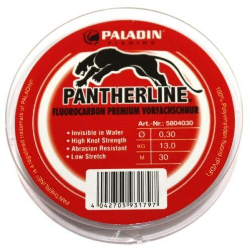0,26€//m Paladin Pantherline Fluorocarbon Vorfachschnur 0,30mm