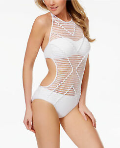 6a856057f4 Kenneth Cole Size L Wrapped In Love Netting 1PC Monokini Swimsuit ...