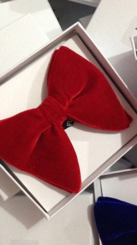 Red Velvet Bowtie Mens big bow tie Mens FERUCCI Oversized Bow Tie