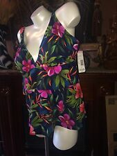 NWT~Tropical Escape~2 Piece~ Red Black~Gives Awesome SEXY~Swimsuit~SZ~22W