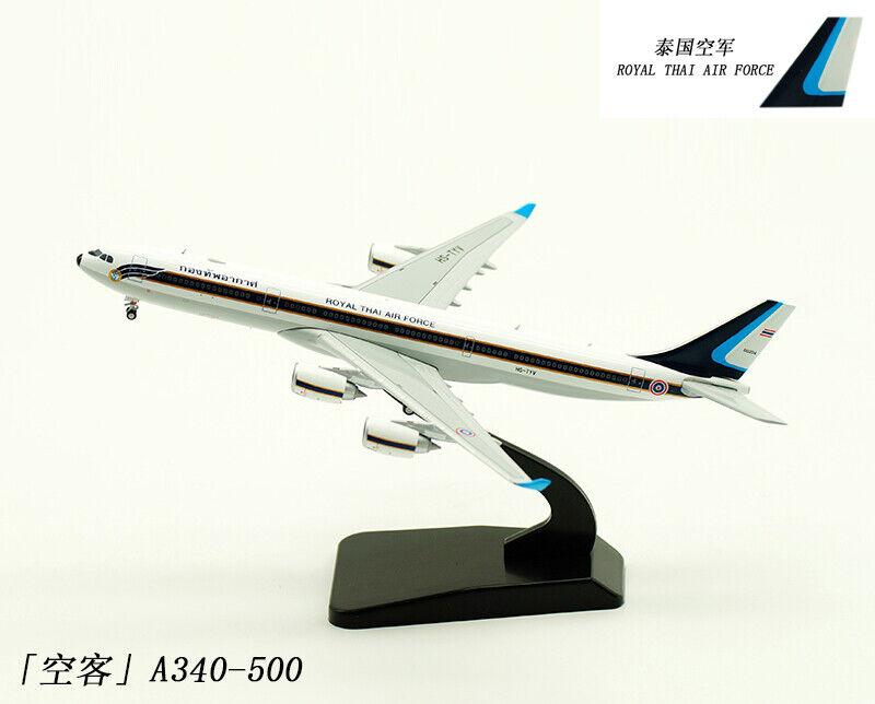 1 400 JC Wings Royal Thai Air Force A340-500 pasajero Avión Modelo Diecast