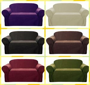 Soft-Suede-Chair-Loveseat-Sofa-Furniture-Slipcover-with-Under-Seat-Elastic-Band