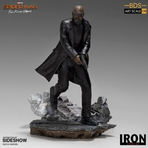 NICK FURY from SPIDER-MAN FAR FROM HOME //AVENGERS BDS ART SCALE IRON STUDIOS