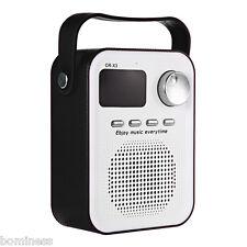 Portable FM Radio Bluetooth Speaker with TF Card Slot AUX Input USB Port