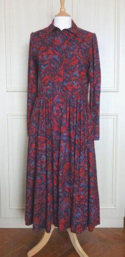 Uk Worn 14 12 Never Dress Floral Ashley Laura Sz Cotton Vintage Print Ow0zSWq