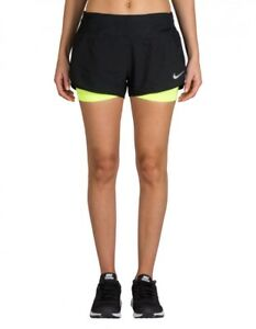 "Details about Women's NIKE RUNNING FLEX RIVAL. 2 in 1 3""Shorts size XS 831552 010"