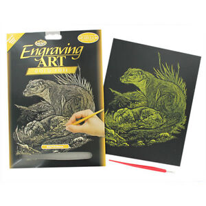 Royal-and-Langnickel-Engraving-Art-Set-Otters-Gold-Foil