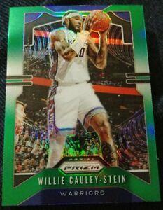 2019-20-Panini-Prizm-Green-132-Willie-Cauley-Stein-Golden-State-Warriors-Card