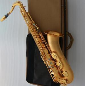 Customized-Satin-Gold-Plated-Tenor-Saxophone-TaiShan-Brand-Bb-Sax-New-Case