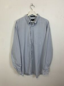Men-039-s-GANT-Washed-Pinpoint-Oxford-Regular-Fit-Long-Sleeve-Shirt-Blue-UK-2XL-XXL