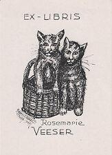 EX-LIBRIS DE ROSEMARIE VEESER, de Francfort, par RAYMOND PRÉVOST (1891-1974).