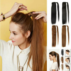 Thick-Clip-In-Ponytail-Hair-Ponytail-Extension-100-Real-Remy-Human-Hair-80g
