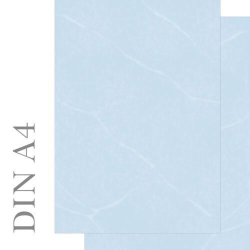 Motivpapier Briefpapier Marmor marmoriert blau beidseitig bedruckt 50 Blatt A4