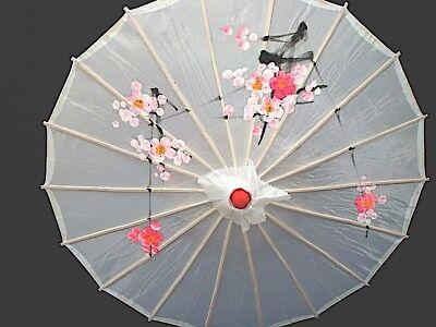Cinese Giapponese S Bianco A Fiori Parasole Danza Nuziale Partito Fancy Ragazza Ombrello-mostra Il Titolo Originale