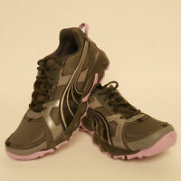 Puma Pumafox Womens Running Shoes Gym Grey Black Rrp £70 £35