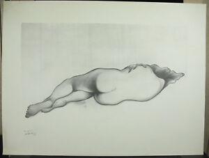 Ben Genaux (1911-1996) Nu De Femme Nude Naked Woman Estampe Signée En Arabe De Bons Compagnons Pour Les Enfants Comme Pour Les Adultes