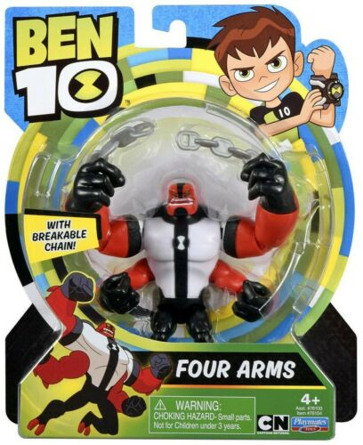 "Nouveau PLAYMATES 2019 Cartoon Network Ben 10 Four Arms avec chaîne 5/"" Figure Alien 4"