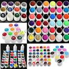 12/36 Mix Color Solid Pure Glitter Gel Acrylic Set UV Builder Nail Art Decor Kit