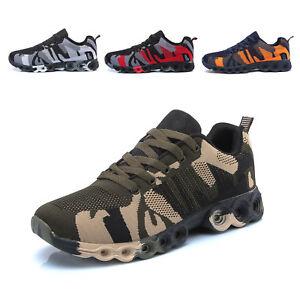 Scarpe-Da-Ginnastica-Uomo-Running-Fitness-Sportive-Corsa-Mimetica-Militare-A59