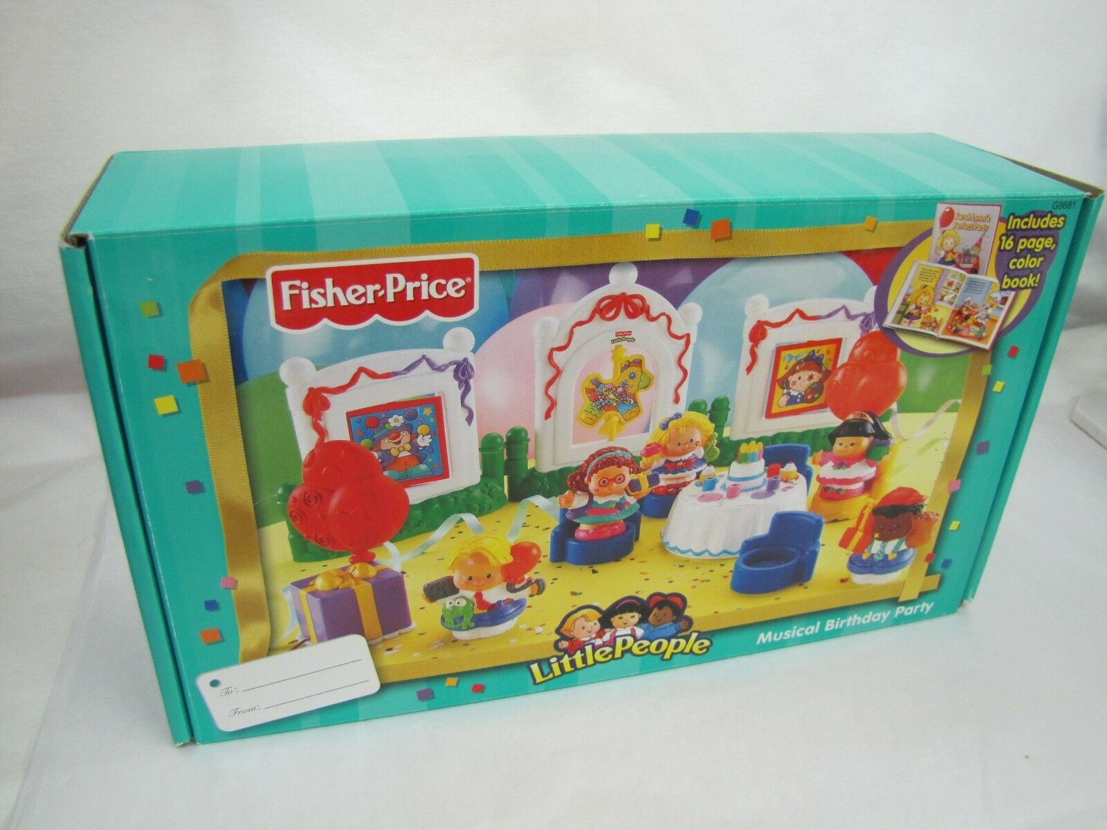 New    Fisher Price LITTLE PEOPLE MUSICAL BIRTHDAY PARTY Music Lights 2004 Rare f14594