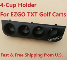 """4 Cup Holder for EZGO TXT, 3"""" Four Hole Cup Holder, 616267 New Golf Cart Parts"""