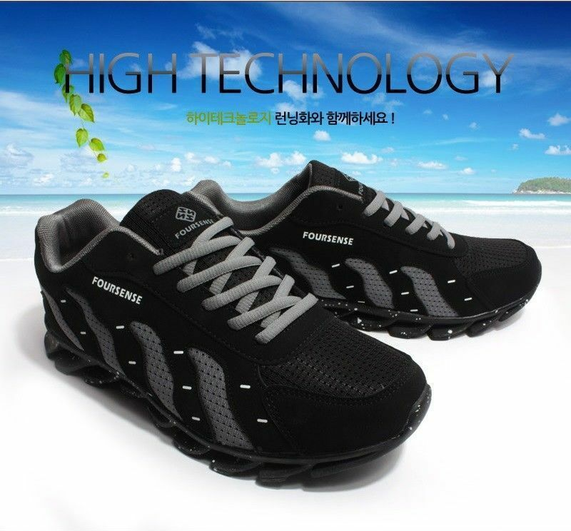new product b5fe3 55c90 FOURSENSE NEW NEW NEW Mens Athletic Sneakers Fashion Running Shoes Black  Gray 2612 r R 40a17a