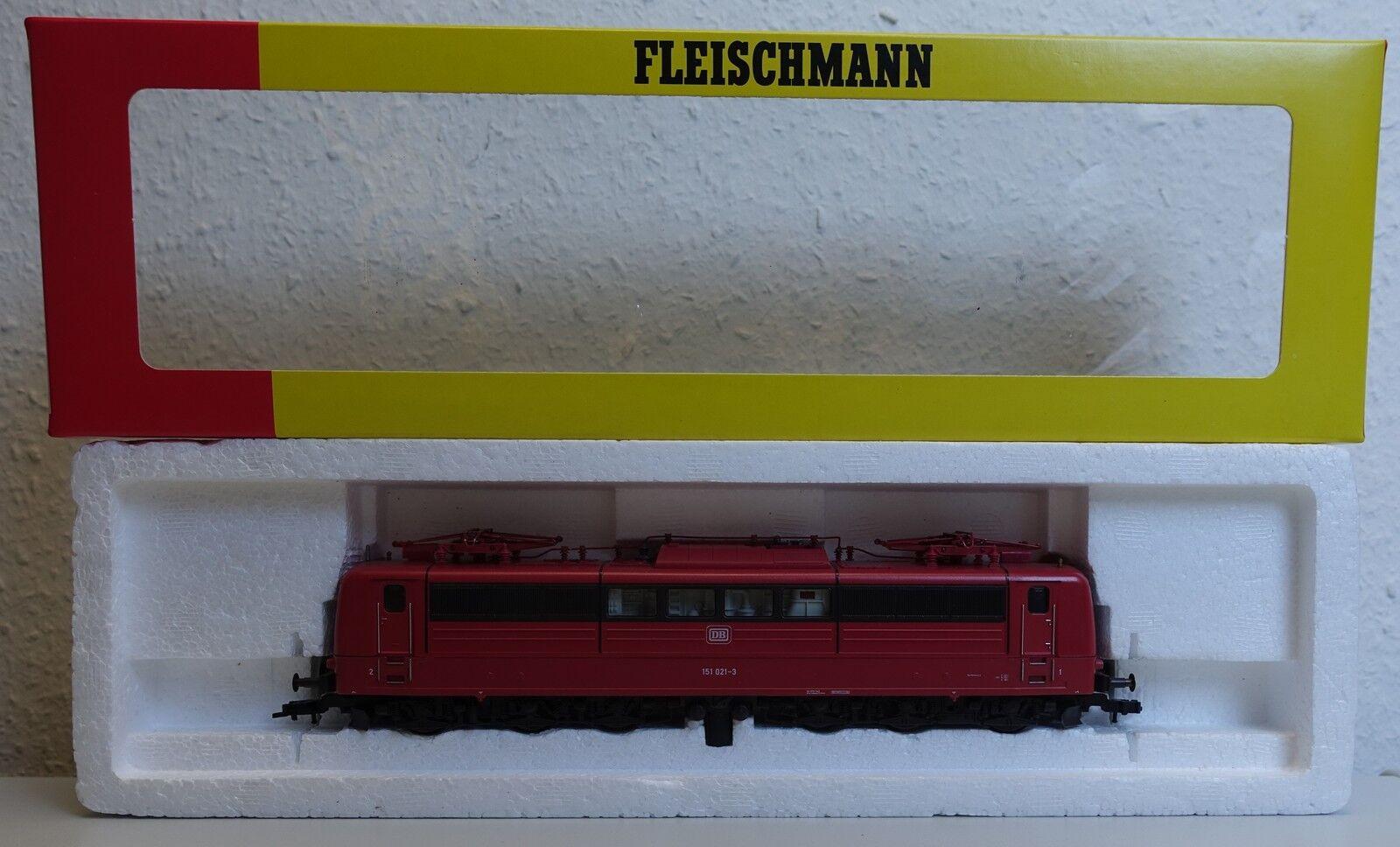 Fleischmann 4382 br151 021-3 la locomotora DB en OVP-h0-Top estado