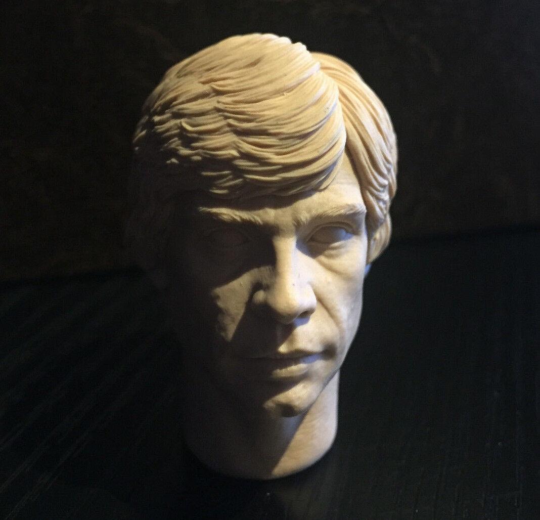 Mega poco común-inigou-Luke Skywalker-Estrella Wars rojoj-Personalizado 1 6 cabeza esculpida