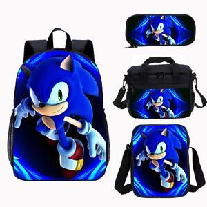 Sonic The Hedgehog Kids School Bag Backpack Lunch Bag Pen Bag Lot Boys Gift 2020 Ebay