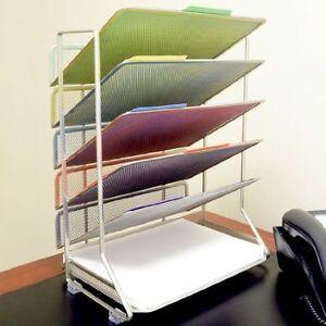 Paper Holder For Wall office desk organizer mesh 6 letter trays paper holder sorter