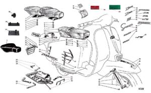 Shock absorber for Lambretta LI series 3