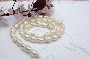 ov20-Cultivadas-Perlas-Cadena-Agua-Dulce-Perla-Joya-Cadena-Collar-5-6-mm-Oval