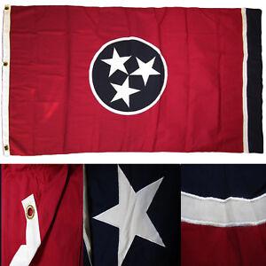 1.5x2.9m Brodé State Of Tennessee Amt États-unis Coton Cercueil Drapeau Adopter Une Technologie De Pointe