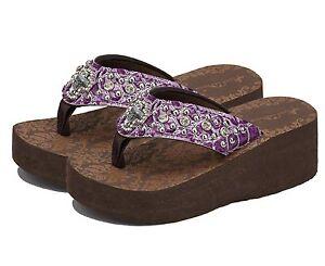 61b1e1d17dd Montana West Flip Flops Bling Wedge Sandals Kid Girls Shoes Summer ...