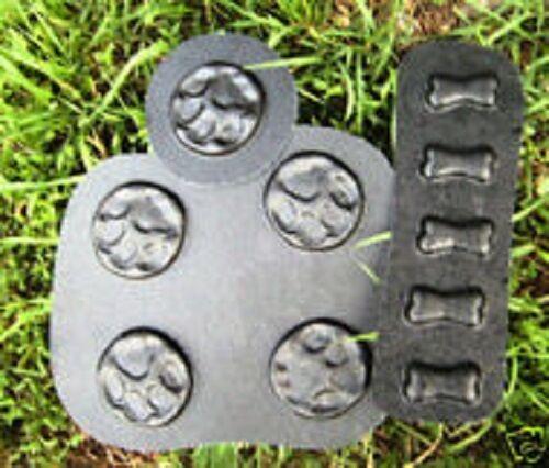 "5 Pawprint 3/"" /& 5 Bone 2/"" Molds//Moulds 10 Molds"