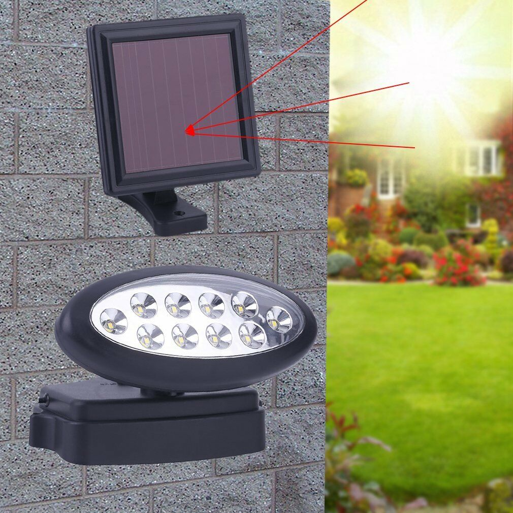 led solar au en garten terrasse spot leuchte wand lampe strahler bewegungsmelder ebay. Black Bedroom Furniture Sets. Home Design Ideas